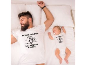 0 Father and Son Best Friends for Life Family Matching Family Look T Shirt Baby Dad Matching