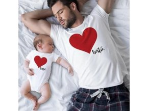1 Father and Son Best Friends for Life Family Matching Family Look T Shirt Baby Dad Matching