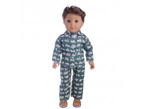 11 Doll Clothes 3Pcs Set Hat Sweater Jeans For 18 Inch American 43 Cm Born Logan Boy