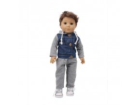 1 Doll Clothes 3Pcs Set Hat Sweater Jeans For 18 Inch American 43 Cm Born Logan Boy