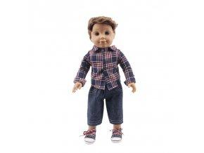 5 Doll Clothes 3Pcs Set Hat Sweater Jeans For 18 Inch American 43 Cm Born Logan Boy