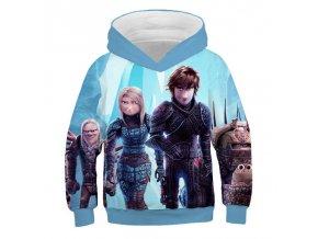 10 Autumn Cartoon How to Train Your Dragon Boys girl Sweatshirts Kids Hoodies 3D Printed Children Long
