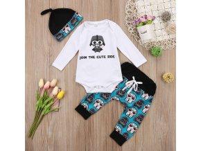 2 Cute Cartoon Robot Toddler Baby Boy Girl Long Sleeve Tops Romper Long Pants Hat 3Pcs Outfits
