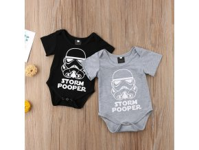 1 Newborn Star Wars Baby Boy Girl Jumpsuit Bodysuit Cartoon Short Sleeve Cotton Clothes Outfits 0 18M