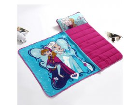 6 Disney Blue Frozen Elsa Anna Portable Rolled Nap Mat with blanket and Pillow for Toddler Baby