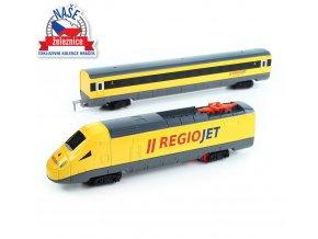 Dětský vlak žlutý RegioJet se zvukem a světlem