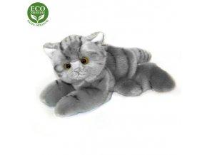 ECO-FRIENDLY plyšáci - Kočka šedá ležící, 16 cm