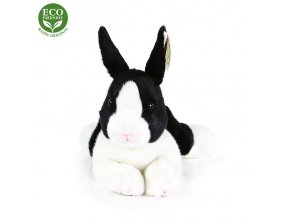 ECO-FRIENDLY plyšáci - Králík bílo-černý ležící, 23 cm