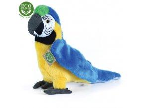 ECO-FRIENDLY plyšáci - Papoušek modro-žlutý Ara Ararauna, 24 cm