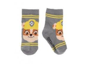 Šedé ponožky pro miminko Tlapková patrola