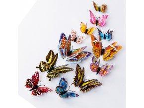 3D svítící samolepící motýli 12 ks