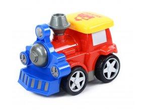 Dětská rotující lokomotiva plastová