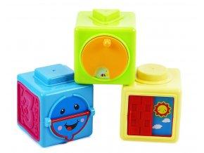 Dětské Baby naučné kostky 3ks