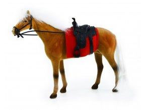 Kůň hnědý fliska 32 cm