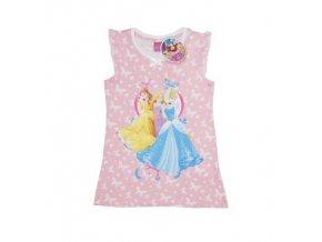 Letní růžové dívčí šaty s DISNEY PRINCEZNAMI