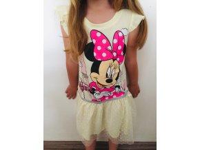 Disney dívčí letní šaty Minnie Mouse v Paříži žluté