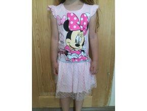 Disney dívčí letní šaty Minnie Mouse v Paříži růžové