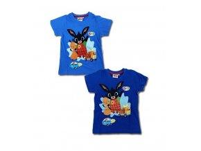 Klučičí tričko králíček BING a FLOP modré