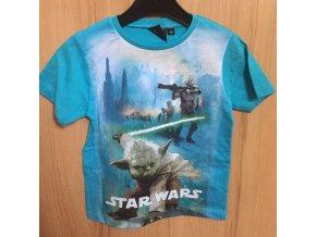 Klučičí tričko Star Wars modré MISTER YODA