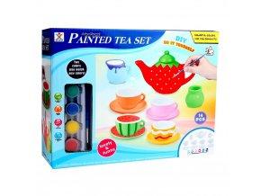 Dětské keramické nádobí na domalování
