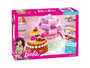Dětská sada Barbie barevná modelína, Malý dort