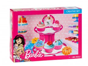 Dětská sada Barbie barevná modelína, Dortíková sada