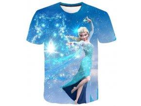 2 Kids Girl Anna 2 Elsa Print T Shirt Summer Baby Cotton Tops Toddler Tees Clothes Children