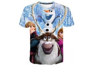 4 Kids Girl Anna 2 Elsa Print T Shirt Summer Baby Cotton Tops Toddler Tees Clothes Children