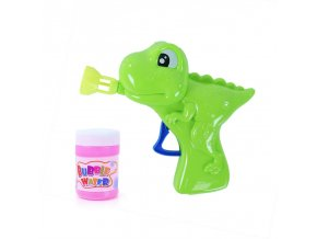 Dětská pistole bublifuk dinosaurus, výroba bublin