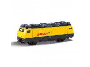 Dětský kovová lokomotiva RegioJet, 9 cm