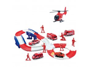 Dětská magická dráha hasiči s příslušenstvím, 143 dílů