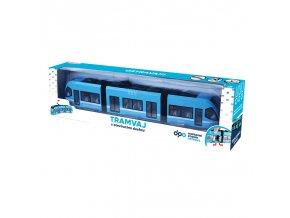 Dětská moderní tramvaj DPO Ostrava modrá, 47 cm