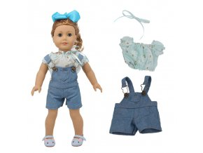 3 Doll 2Pcs Clothes Pants Fashion Set Fit 18 Inch American Doll 43 Cm Born Baby Generation