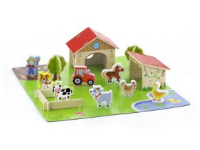 Dětská dřevěná farma