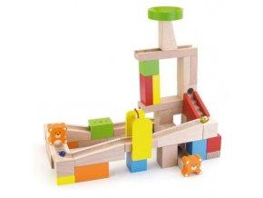 Dětská dřevěná kuličková dráha