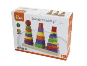 Dětská dřevěná pyramida 3v1
