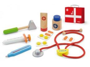 Dětská dřevěná sada doktorka