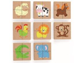 m drevene puzzle s magnetem zviratka 32 dilku 99492