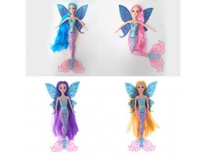 1 Delicate Swimming Mermaid Doll Girls Magic Classic Mermaid Toy with Butterfly Wing Toys For Princess Girls