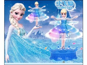 1 Newest Flyings Princess Elsa With Music Toy Infrared Induction Control Flyings Dolls For Girls Remote Control