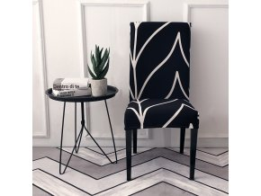 6 Spandex Elastic Printing Dining Chair Slipcover Modern Removable Anti dirty Kitchen Seater Case Stretch Chair Cover
