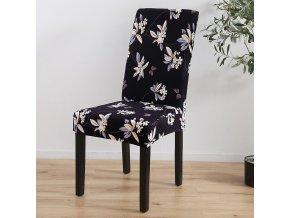 4 Spandex Elastic Printing Dining Chair Slipcover Modern Removable Anti dirty Kitchen Seater Case Stretch Chair Cover