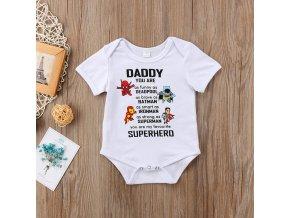 """Kojenecké body """"nejlepší táta superhrdina"""""""