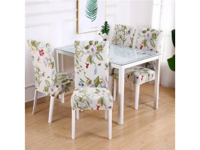 7 Dining Chair Cover Spandex Elastic Pastoral Print Modern Slipcovers Furniture Cover Kitchen Wedding housse de chaise