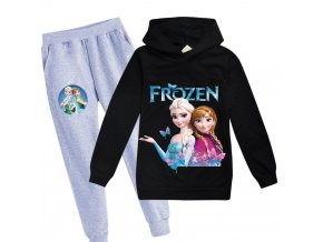 18 kids Clothing Sets for girls elsa costume print Birthday suit long sleeve children Sport Suits Hoodies