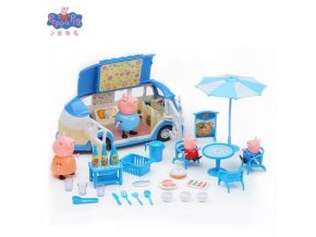 4 Peppa Pig Playground Airplane George Pig Family Friends Action Figures Classroom Scene Educational Toy Children Gift