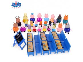 3 Peppa Pig Playground Airplane George Pig Family Friends Action Figures Classroom Scene Educational Toy Children Gift