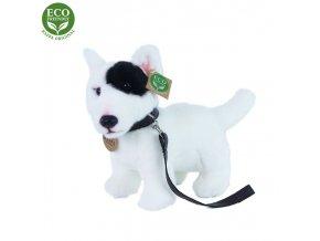 ECO-FRIENDLY plyšáci - Pes Anglický Bulteriér s vodítkem, 23 cm