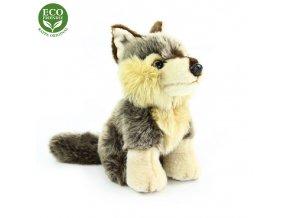 ECO-FRIENDLY plyšáci - Vlk sedící, 18 cm