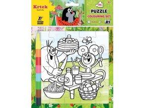 Dětské puzzle k vymalování, Krtek
